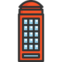 Boxes, phone, telephone, public, shapes, Cabin, Cultures DarkSlateGray icon