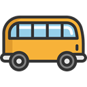 transportation, transport, vehicle, Bus, school bus, Automobile, Public transport DarkSlateGray icon