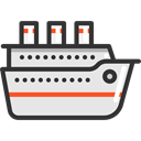 transportation, Boat, transport, ship, Cruise, Yacht, Ships Gainsboro icon
