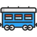 wagon, Railway, Rail, transportation, transport, train DarkSlateGray icon