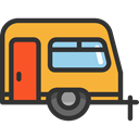 transportation, travel, transport, vehicle, Camping, Caravan, Holidays, summer, Trailer DarkSlateGray icon