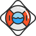 lifeguard, lifebuoy, Floating, security, help, Lifesaver, Tools And Utensils DarkSlateGray icon