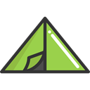 nature, Camping, Forest, Tent, woods, rural Black icon
