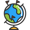 Planet Earth, Earth Globe, Earth Grid, planet, Geography, Maps And Flags, globe, Maps And Location DarkSlateGray icon