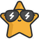Signaling, Favourite, rate, shapes, signs, star, sunglasses, Favorite DarkSlateGray icon