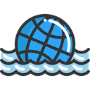 Ball, Beach ball, water, Beach, leisure, Holidays, summer, Fun DarkSlateGray icon