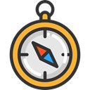 compass, Orientation, location, Direction, Tools And Utensils, Cardinal Points DarkSlateGray icon