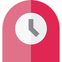 hour, minute, Tools And Utensils, Clock, time, Table Clock PaleVioletRed icon