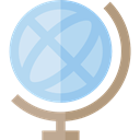 globe, planet, Geography, Maps And Flags, Planet Earth, Earth Globe, Earth Grid, Maps And Location LightBlue icon