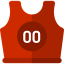 sport, team, equipment, Shirt, Clothes, fashion, uniform, Sports And Competition Firebrick icon