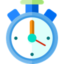 time, stopwatch, timer, interface, Chronometer, Wait, Tools And Utensils, Sports And Competition LightCyan icon