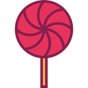 Food And Restaurant, Birthday And Party, food, sugar, Dessert, sweet, Lollipop, Lollipops Black icon