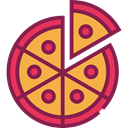 food, Pizza, Restaurant, Fast food, junk food, Pizzas, Italian Food, Restaurants, Food And Restaurant Brown icon