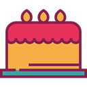 cake, food, Dessert, Celebration, birthday, Bakery, Birthday Cake, Birthday And Party SandyBrown icon