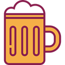 Pint Of Beer, Birthday And Party, drink, food, mug, beer, Pint, Beer Mug SandyBrown icon