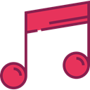 music, interface, music player, song, music note, musical note, Quaver, Music And Multimedia Black icon