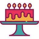 food, Dessert, Celebration, Bakery, birthday, cake, Birthday Cake, Birthday And Party Brown icon
