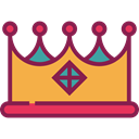 Royalty, Chess Piece, Birthday And Party, miscellaneous, king, shapes, crown, Queen Brown icon