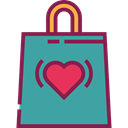 Heart, gift, present, Bag, purse, Handbag, fashion, Birthday And Party CadetBlue icon