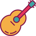musical instrument, Spanish Guitar, Orchestra, Acoustic Guitar, music, guitar, flamenco, Folk, String Instrument, Music And Multimedia SandyBrown icon