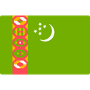 world, flag, turkmenistan, flags, Country, Nation Olive icon