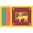 world, flag, flags, Country, Nation, Sri Lanka SandyBrown icon