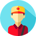 user, profile, Avatar, job, Social, Courier, profession, Professions And Jobs SkyBlue icon