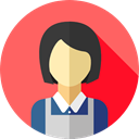 user, profile, Avatar, job, Social, Maid, profession, Professions And Jobs Tomato icon