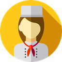user, profile, Avatar, job, Social, Cooker, profession, Professions And Jobs Gold icon