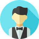 user, profile, Avatar, job, Social, profession, Croupier, Professions And Jobs SkyBlue icon