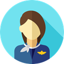 user, profile, Avatar, job, Social, Stewardess, profession, Professions And Jobs SkyBlue icon