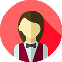 user, profile, Avatar, job, Social, waiter, profession, Professions And Jobs Tomato icon