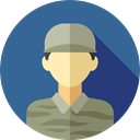 job, Social, soldier, profession, Professions And Jobs, user, profile, Avatar SteelBlue icon