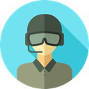 profession, Professions And Jobs, Avatar, job, Social, soldier, user, profile SkyBlue icon