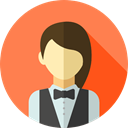 profile, Avatar, job, Social, profession, Croupier, Professions And Jobs, user Coral icon