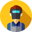 user, profession, Welder, Professions And Jobs, profile, Avatar, job, Social Gold icon