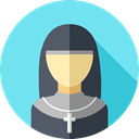 job, Social, nun, profession, user, profile, Avatar, Professions And Jobs SkyBlue icon