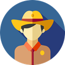 user, profile, Avatar, job, Social, Sheriff, profession, Professions And Jobs SteelBlue icon