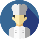 user, profile, Avatar, job, Social, Chef, profession, Professions And Jobs SteelBlue icon