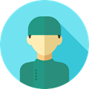 job, Social, Surgeon, profession, user, profile, Avatar, Professions And Jobs SkyBlue icon