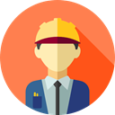 job, Social, Engineer, profession, Professions And Jobs, user, profile, Avatar Coral icon