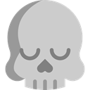 medical, Dead, skull, dangerous, signs, Poisonous, Healthcare And Medical LightGray icon
