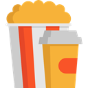 cinema, food, popcorn, snack, Fast food, Salty, Food And Restaurant Goldenrod icon