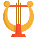 music, Harp, musical instrument, classical, Orchestra, String Instrument, Music And Multimedia Goldenrod icon