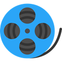 film, movie, interface, technology, cinema, entertainment, film reel, video player, filming DodgerBlue icon