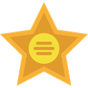 star, Walk Of Fame, award, recognition, entertainment, signs Goldenrod icon