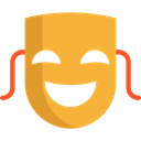 Comedy, Masks, theatre, tragedy, carnival, entertainment, fashion, party, Mask, Theater, Drama Goldenrod icon