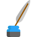 writer, education, writing, Ink, quill Black icon