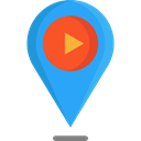 interface, pin, placeholder, signs, map pointer, Map Location, Map Point, Maps And Location DodgerBlue icon