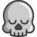 medical, Dead, Healthcare And Medical, skull, dangerous, signs, Poisonous LightGray icon